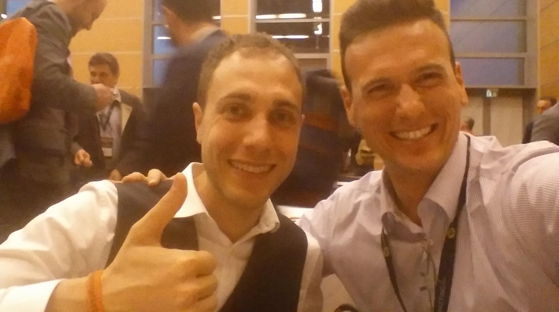 Foto io e Alessandro Bentivoglio